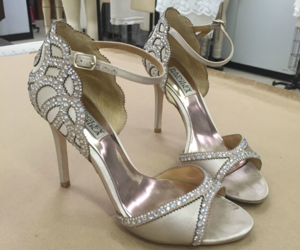 Who wore these glitzy heels?