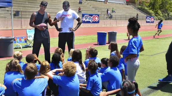 Criminal Minds shined a spotlight on NFL's Play60 campaign.