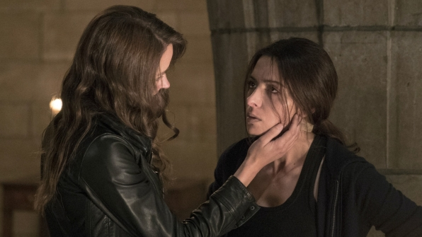 Root embraces Shaw after being separated for months.