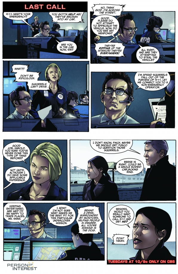 Person of Interest Comic - Last Call S3 E15