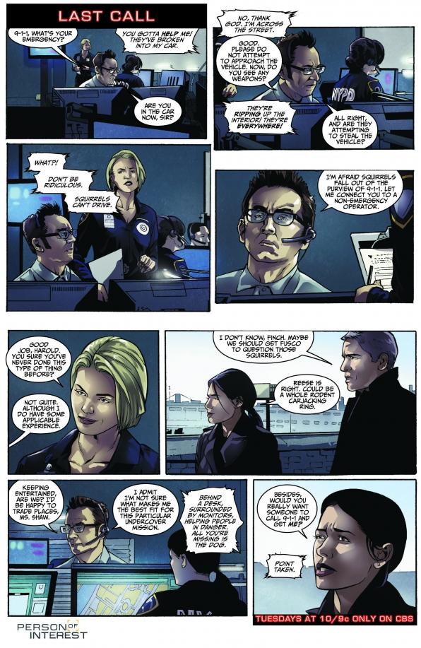 Person of Interest Comic - Last Call S3 E15