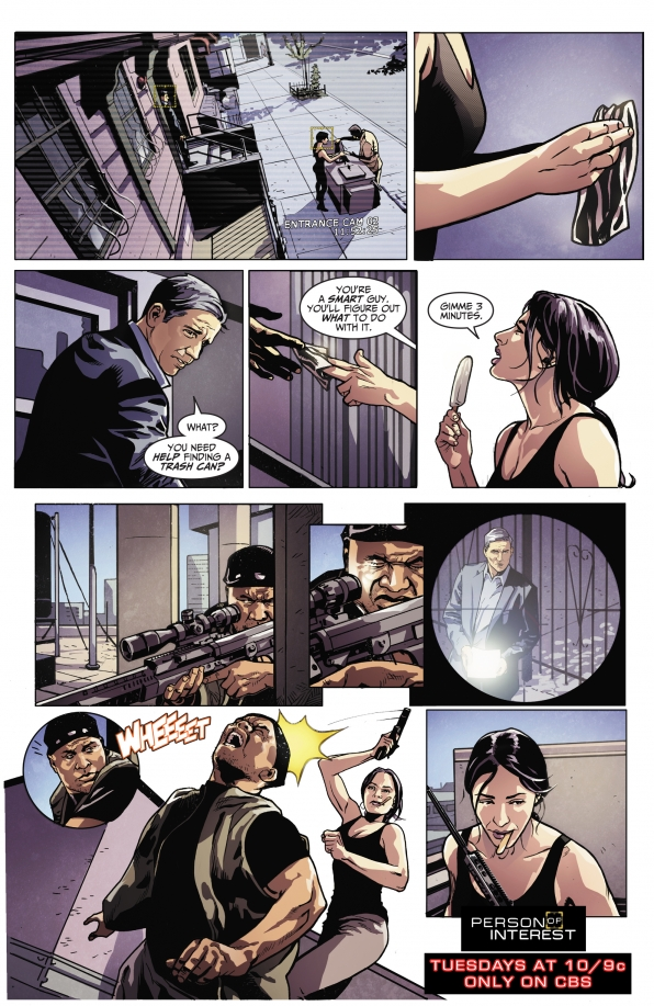 Person of Interest Comic - Season 3 Episode 1 - Liberty - CBS.com