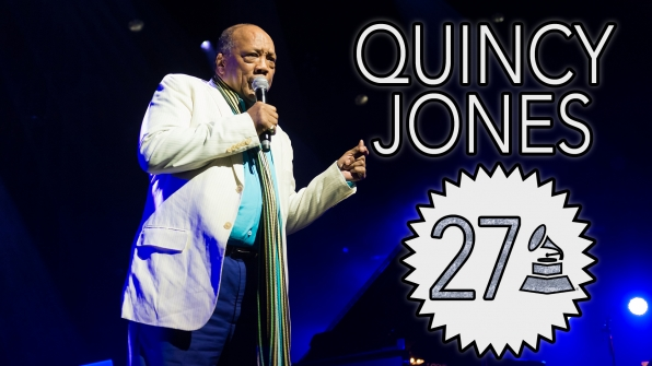 Quincy Jones with 27 GRAMMY Awards
