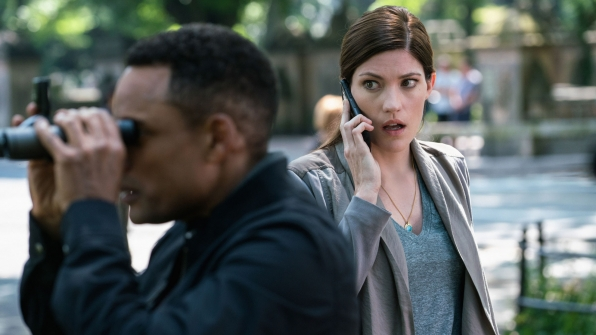 Hill Harper as Agent Spellman Boyle and Jennifer Carpenter as Agent Rebecca Harris