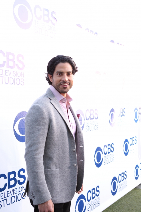 Adam Rodriguez on the CBS Summer Soiree Red Carpet
