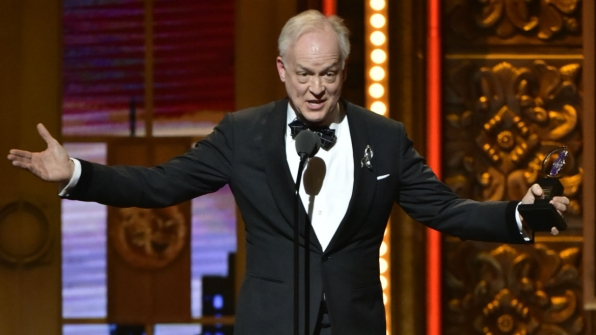 Reed Birney wins the 2016 Tony Award for Best Performance by an Actor in a Leading Role in a Play.