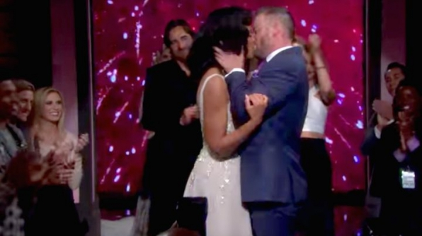 Rick proposes to Maya on the runway