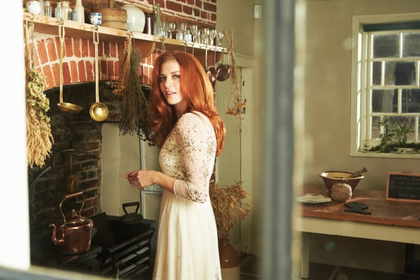Rachelle Lefevre and Her Teapot - Watch! Magazine August 2014