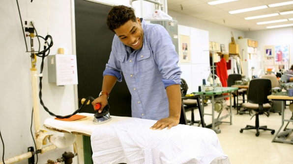 Rome Flynn straightened things out in the B&B costume room.
