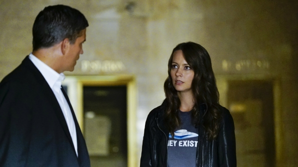 Root shows off her wacky side as a conspiracy theorist.