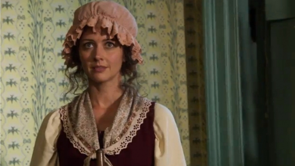 Root transforms into a colonial reenactor.