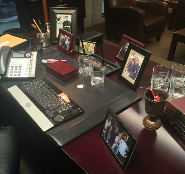 Take a look at David's desk