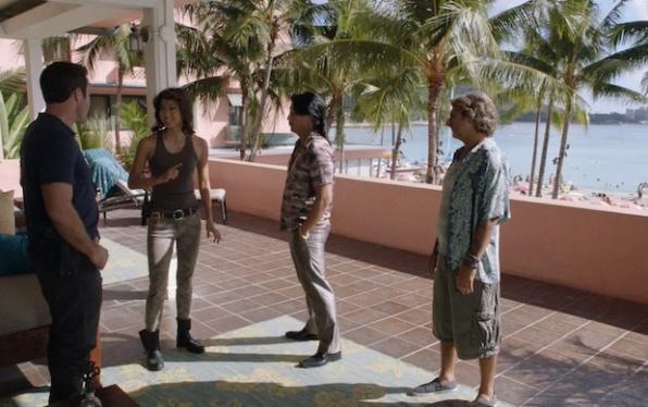 Alex O'Loughlin as Steve McGarrett, Grace Park as Kono Kalakaua, Will Yun Lee as Flippa, and Michael Imperioli as Odell Martin
