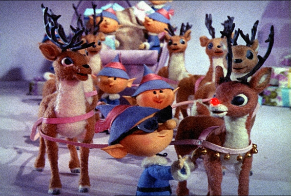 2. Rudolph's red nose leading the way of Santa's sleigh
