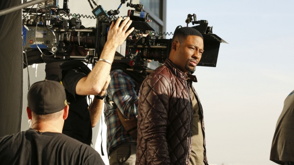 The sun shines on Justin Hires.