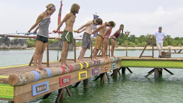 "Immunity challenge in ""Don't Say Anything About My Mom"" Episode 13 of Season 26"