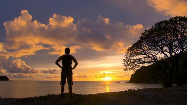 Beautiful sunset in Season 27 Episode 12