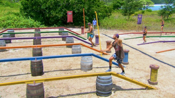 Competing for immunity in Season 27 Episode 12