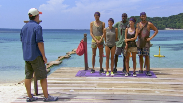 Lining up in Season 27 Episode 13