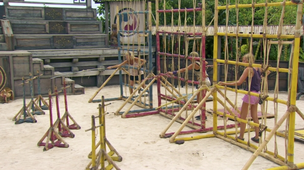 Competing hard in Season 27 Episode 13