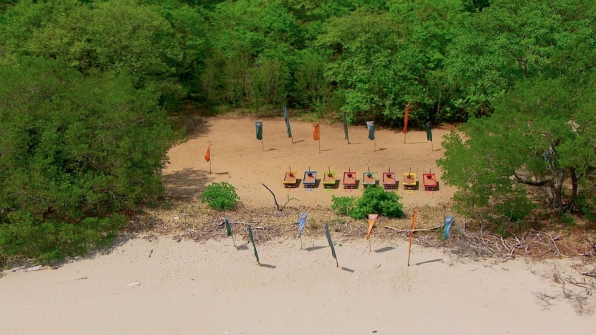 Overhead shot of the immunity challenge