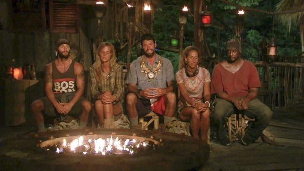 The final five sit together