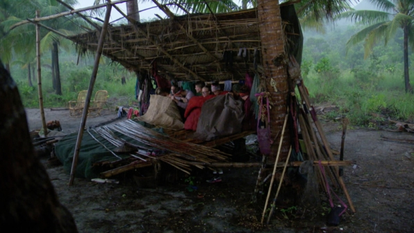 Rain comes down hard on the entire Orkun Tribe.