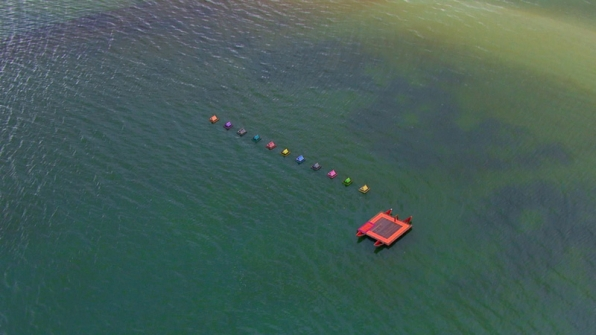 The Individual Immunity Challenge has the group balancing out in the open sea.