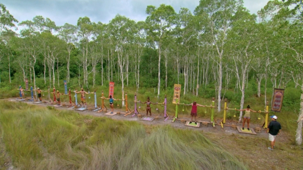 The castaways compete for the chance to wear the Immunity Necklace this week.