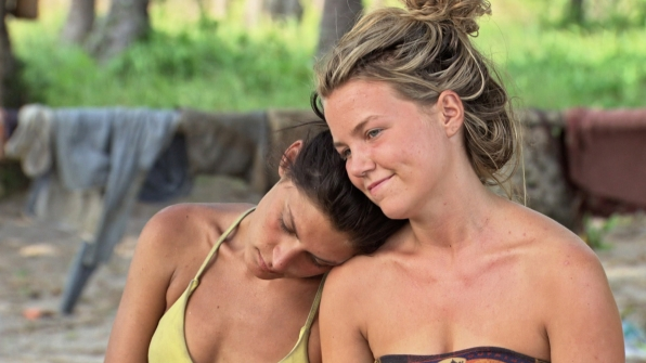 Michele leans on Julia before Tribal.