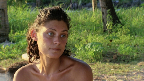 Michele takes a moment to ponder her Survivor journey during the season finale.