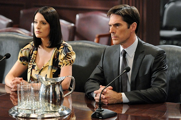Prentiss and Hotchner Face the Committee