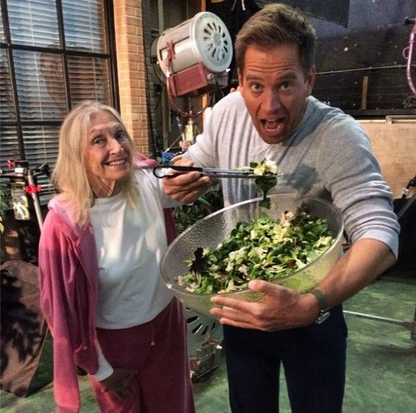NCIS Instagram:  Mom's here! She helps me eat healthy at work! #ncis #cbsinstagramtakeover - Michael Weatherly