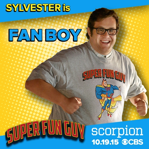 Any fan of Scorpion knows that Sylvester is a fan of Super Fun Guy. While he didn't make it to the movie's set in Kazakhstan, the rest of the team did—and had to go undercover as characters. Check out their costumes!