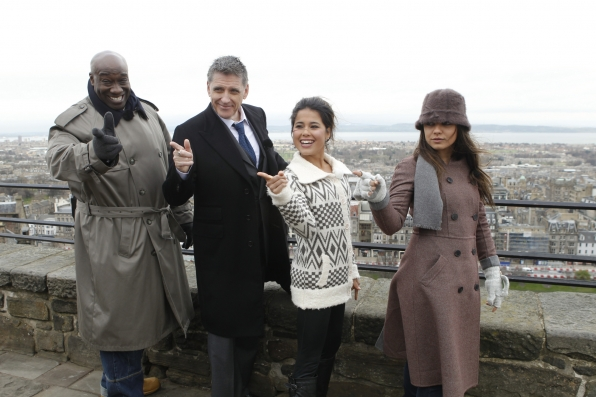 Craig with Michael Clarke Duncan, Ariel Tweto and Mila Kunis