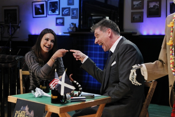 Craig with Mila Kunis