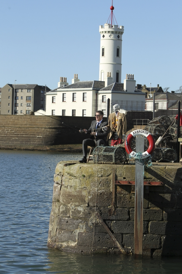 Craig and Geoff in Arbroath Harbour