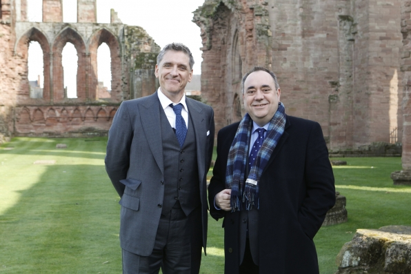 Craig Poses with Scottish First Minister Alex Salmond