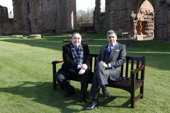 Craig with Scottish First Minister Alex Salmond