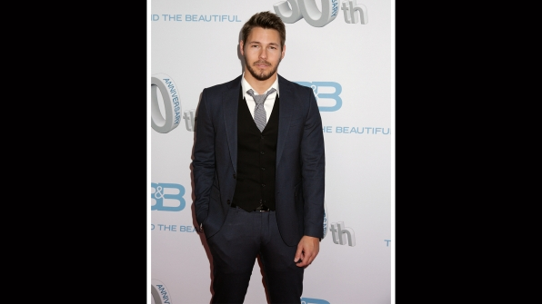 Scott Clifton mixes blues and blacks for a sophisticated look.