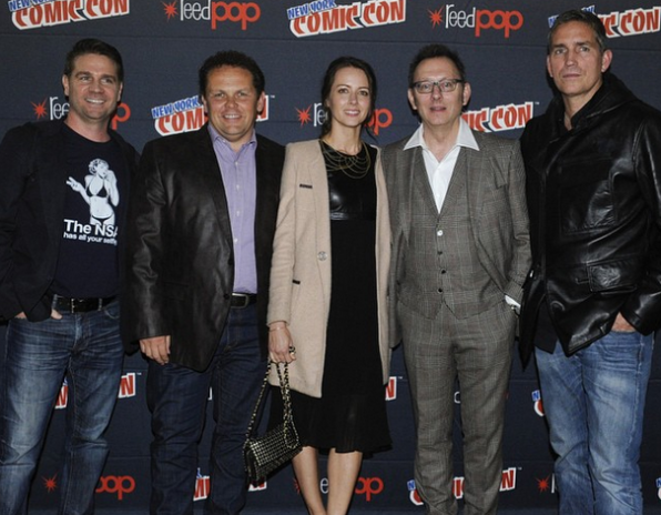 The cast and EP of Person Of Interest at NYCC!