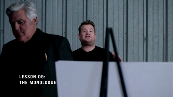 Jay Leno teaches James Corden how it's done