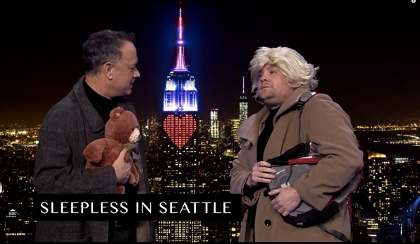Tom Hanks and James act out Tom's movies in 7 minutes