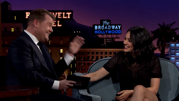 James Corden is mistaken for Mila Kunis
