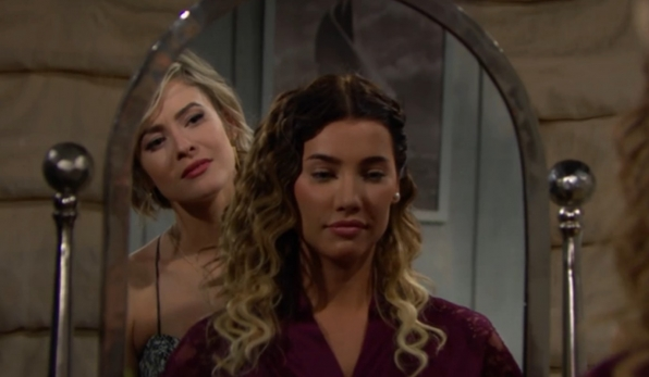 Caroline extends a warm welcome to Steffy.