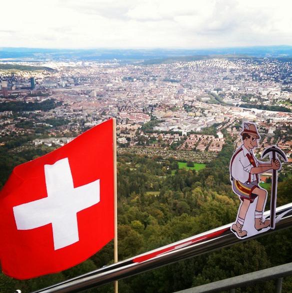 Up high in Switzerland