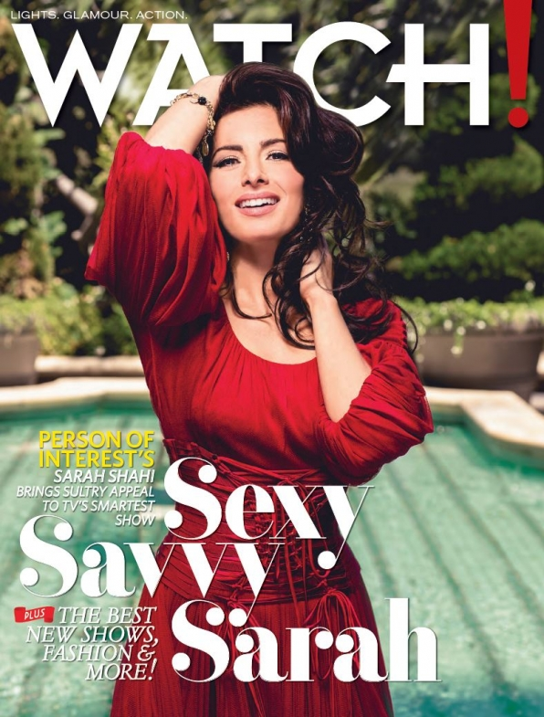 Sarah Shahi Graces the October 2014 Cover of Watch! Magazine