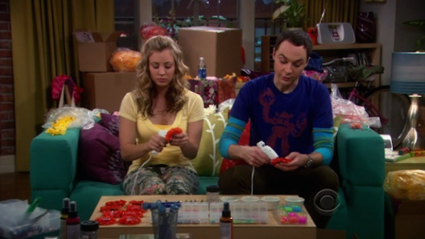 "Penny and Sheldon singing ""Blow The Man Down"""