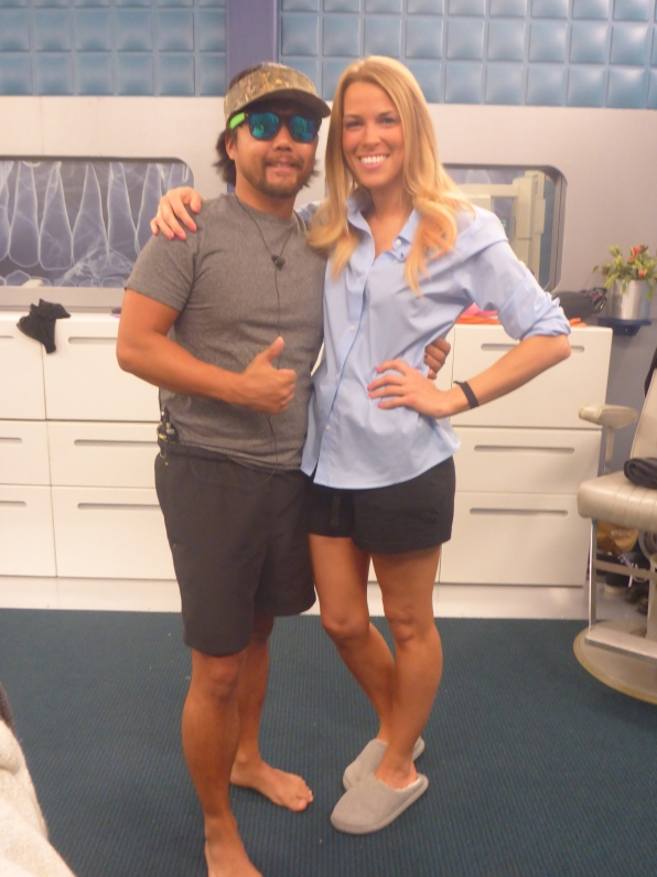 James hangs out with Shelli.
