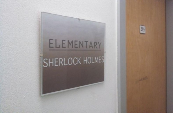 Sherlock's Sanctum Santorum.
